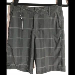 Micros boys 8 adjustable waist gray checkered
